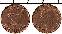 Изображение Монеты Великобритания 1 фартинг 1942 Бронза XF Георг VI