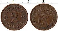Изображение Монеты Исландия 2 аурар 1942 Бронза XF