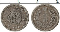 Изображение Монеты Япония 5 сен 1877 Серебро VF+