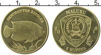 Изображение Монеты Индонезия 5 рупий 2016 Латунь UNC UNUSUAL. Малуку. Рыб