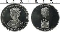 Продать Монеты Замбия 1000 квач 2002 Медно-никель