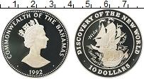 Изображение Монеты Багамские острова 10 долларов 1992 Серебро Proof Елизавета II.Открыти