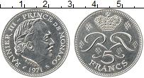 Изображение Монеты Монако 5 франков 1971 Медно-никель XF