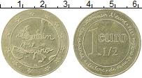 Изображение Монеты Франция 1 1/2 евро 1996 Латунь UNC-