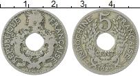 Изображение Монеты Индокитай 5 сантим 1925 Медно-никель XF-