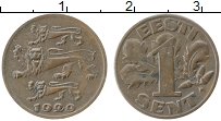 Изображение Монеты Эстония 1 сент 1929 Бронза XF
