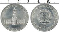 Изображение Монеты ГДР 5 марок 1987 Медно-никель UNC- Красная ратуша в Бер