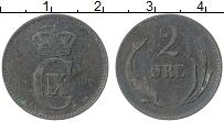 Изображение Монеты Дания 2 эре 1881 Медь XF Кристиан IX