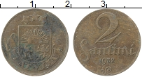 Изображение Монеты Латвия 2 сантима 1932 Медь XF