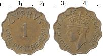 Изображение Монеты Кипр 1 пиастр 1942 Медь XF Георг VI