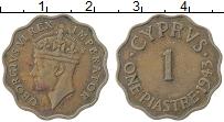 Изображение Монеты Кипр 1 пиастр 1943 Медь XF Георг VI