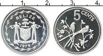Изображение Монеты Белиз 5 центов 1979 Серебро Proof-