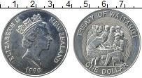 Изображение Монеты Новая Зеландия 1 доллар 1990 Медно-никель UNC- Елизавета II. 150 ле