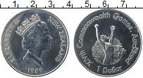 Изображение Монеты Новая Зеландия 1 доллар 1989 Медно-никель UNC- Елизавета II. XIV Иг