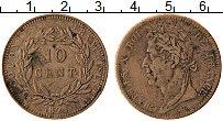 Изображение Монеты Франция 10 сантим 1825 Медь XF