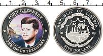 Изображение Монеты Либерия 5 долларов 2009 Посеребрение Proof- Цифровая печать. 35-