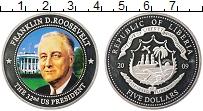 Изображение Монеты Либерия 5 долларов 2009 Посеребрение Proof- Цифровая печать. 32-