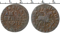 Изображение Монеты 1689 – 1725 Петр I 1 копейка 1716 Медь VF+
