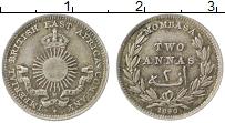 Изображение Монеты Африка Момбаса 2 анны 1890 Серебро XF+
