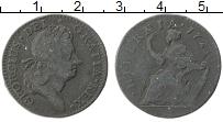 Изображение Монеты Ирландия 1/2 пенни 1723 Медь XF- Георг