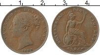 Изображение Монеты Великобритания 1 фартинг 1853 Медь XF Виктория