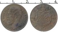 Изображение Монеты Румыния 2 бани 1880 Медь XF Карл I