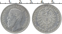 Изображение Монеты Баден 2 марки 1888 Серебро XF G Фридрих
