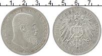 Изображение Монеты Вюртемберг 5 марок 1908 Серебро XF F Вильгельм II