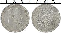 Изображение Монеты Вюртемберг 5 марок 1913 Серебро XF+ F Вильгельм II