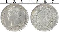 Изображение Монеты Португалия 1 эскудо 1915 Серебро XF