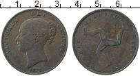 Изображение Монеты Остров Мэн 1 пенни 1839 Медь VF+