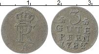 Изображение Монеты Пруссия 3 пфеннига 1782 Серебро VF А. Фридрих II