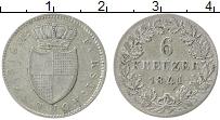 Продать Монеты Хохенлохе 6 крейцеров 1846 Серебро