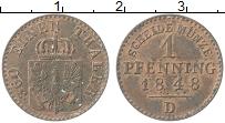 Изображение Монеты Пруссия 1 пфенниг 1848 Медь XF