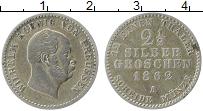 Изображение Монеты Пруссия 2 1/2 гроша 1862 Серебро XF