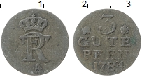 Изображение Монеты Пруссия 3 пфеннига 1781 Медь VF