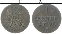 Изображение Монеты Пруссия 1 пфенниг 1790 Медь VF А Фридрих Вильгельм