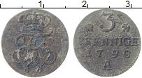 Изображение Монеты Пруссия 3 пфеннига 1790 Медь VF А Фридрих Вильгельм