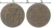 Изображение Монеты Пруссия 1 пфенниг 1822 Медь XF D