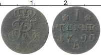 Изображение Монеты Пруссия 1 пфенниг 1799 Медь VF