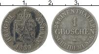 Продать Монеты Анхальт 1 грош 1862 Серебро