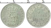 Изображение Монеты Бавария 3 крейцера 1840 Серебро XF Герб. Редкий год