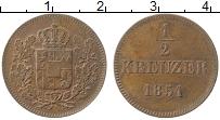 Изображение Монеты Бавария 1/2 крейцера 1851 Медь XF Герб