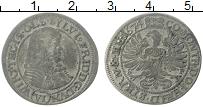 Изображение Монеты Вюртемберг 6 крейцеров 1674 Серебро VF Фридрих