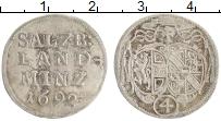 Изображение Монеты Зальцбург 4 крейцера 1864 Серебро XF 1/2 гульдена