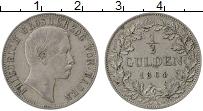 Изображение Монеты Баден 1/2 гульдена 1864 Серебро XF Фридрих