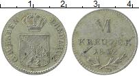 Изображение Монеты Баден 6 крейцеров 1842 Серебро XF