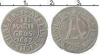 Изображение Монеты Оснабрук 2 марьенгроша 1667 Серебро XF Вензель