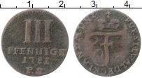 Изображение Монеты Вальдек-Пирмонт 3 пфеннига 1781 Медь VF PS