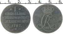 Изображение Монеты Шлезвиг-Гольштейн 1 сешлинг 1787 Медь XF Вензель